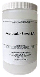 Molecular Sieve 3a 500g Poly Jar High Purity