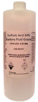 Sulfuric Acid 30% Battery Fluid Grade