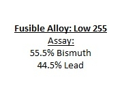 Fuseable Alloy: Low 255 Melting Point